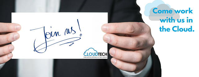 Join CloudTech. Come work with us in the cloud.
