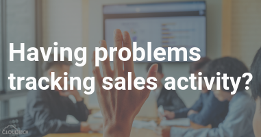Having problems tracking sales activity?