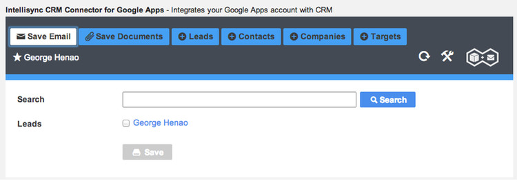 Intellisync CRM Connector for Google Apps.